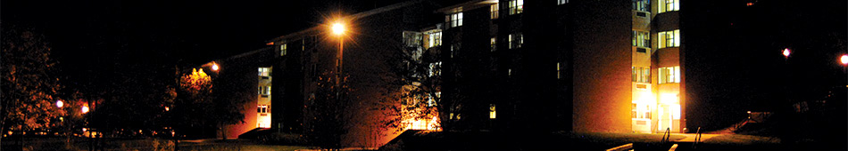 East Dorms at Night Photo