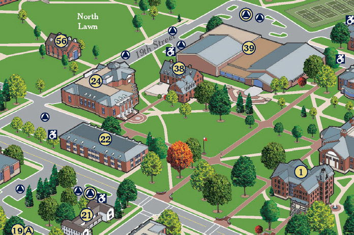 a portion of the campus map