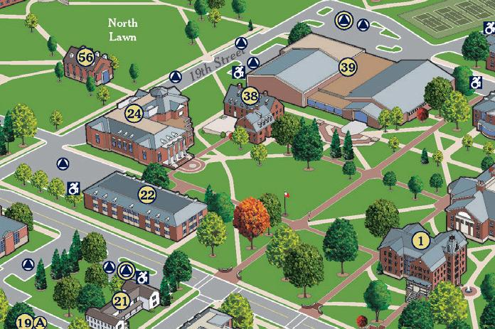 Juniata Campus Map.Juniata College About Visit Map