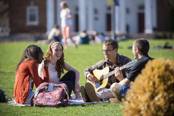 Students on the Campus Quadrangle