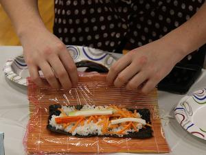 On a Roll: Juniatians Learn Sushi Making