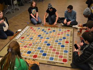Scrabble Scramble: Game Night in Global Village