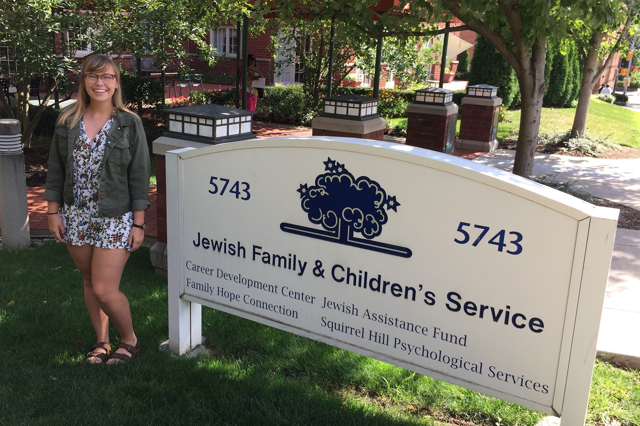 Savannah Parson interned during summer 2017 at Jewish Children & Family Services.